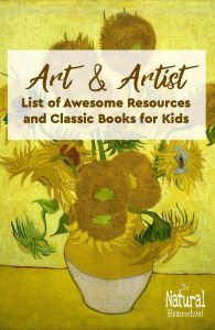 Art and Artist List of Resources and Classic Books for Kids