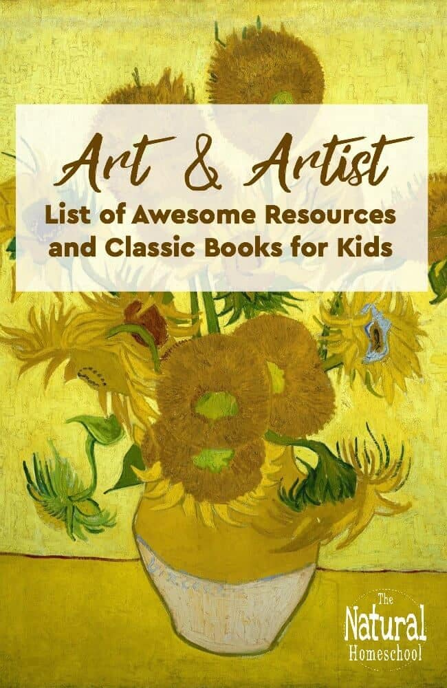 In this post, we will share an amazingArt and Artist list of resources and classic books for kids. We list fiction and non-fiction books as well as popular art materials and art lessons and printables. Enjoy!