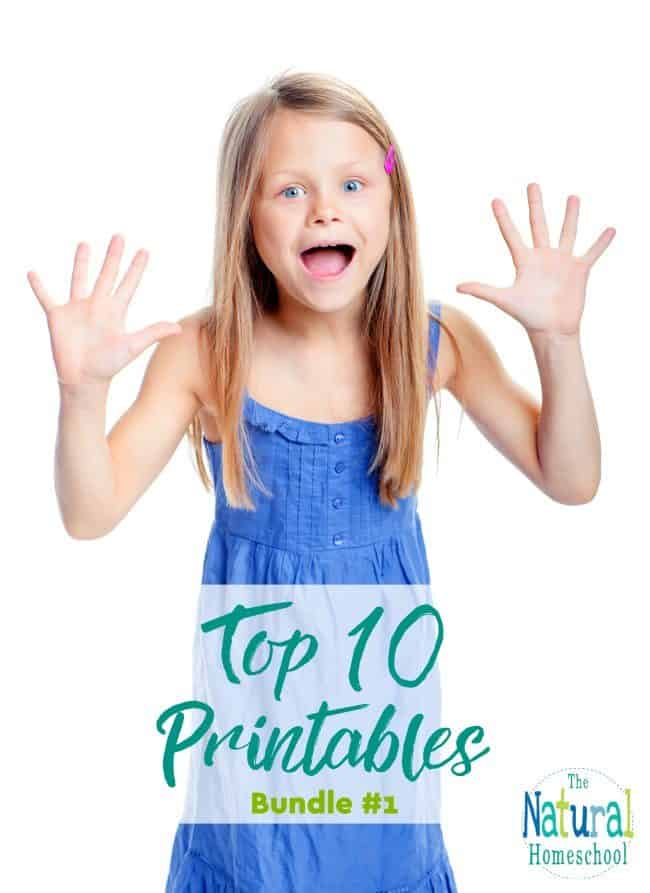 This is so much fun! We have finally put together our top 10 printables that are the most popular and most downloaded sets so far! Come and take a look!