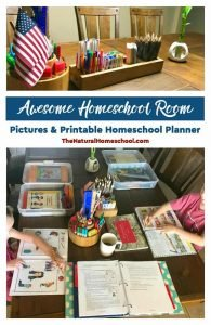 Awesome Homeschool Room  – Pictures & Printable Homeschool Planner