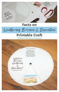 Facts on Weathering, Erosion & Deposition Printable Craft
