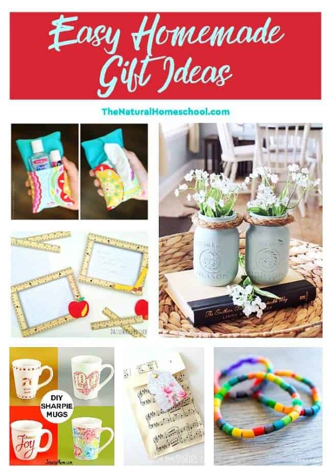 This is a great list of posts that bring you beautiful advice to make Easy Homemade Gift Ideas a wonderful experience. Include your children in the reading. What do they think?