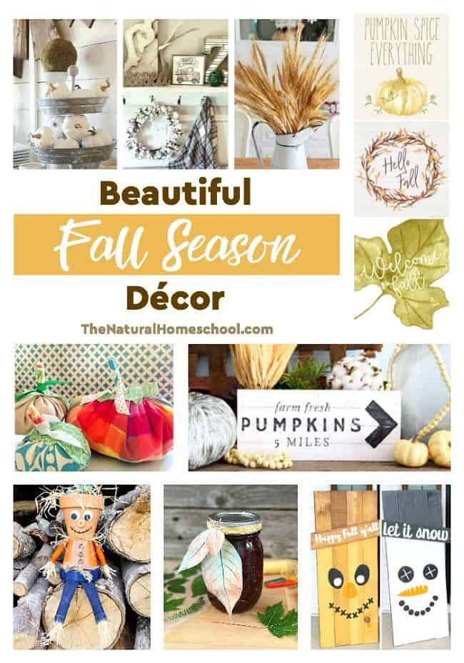 This is an awesome list of posts that bring you beautiful advice to make Fall Season Decorations a wonderful experience. Include your children in the reading. What do they think?