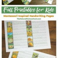 Fall Printables for Kids - Montessori-Inspired Handwriting Pages