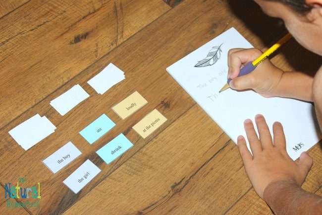 We played a game once when I wanted my son to get ideas for writing sentences. It was a blast! He was having so much fun that he learned to write sentences in no time! Now, we have made another fun sentence starters activity with printable cards that you can get for your kids, too.