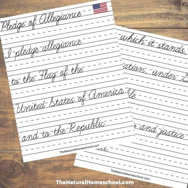 Tour of the usa printable flag with pledge of allegiance for Pledge of allegiance coloring page