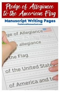 Tour of the USA – Printable Manuscript Pledge of Allegiance Pages