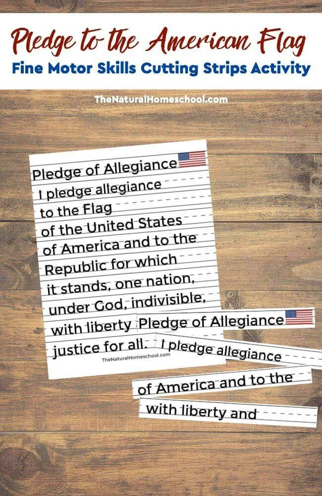 Take a look at how this American flag with pledge activity is even helping my daughter learn to read!