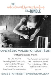 The Intentional Homeschool FALL Bundle is HERE!