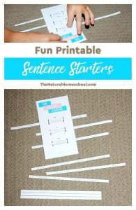 Fun Sentence Starters – Printable Sentence Strips for Reluctant Writers