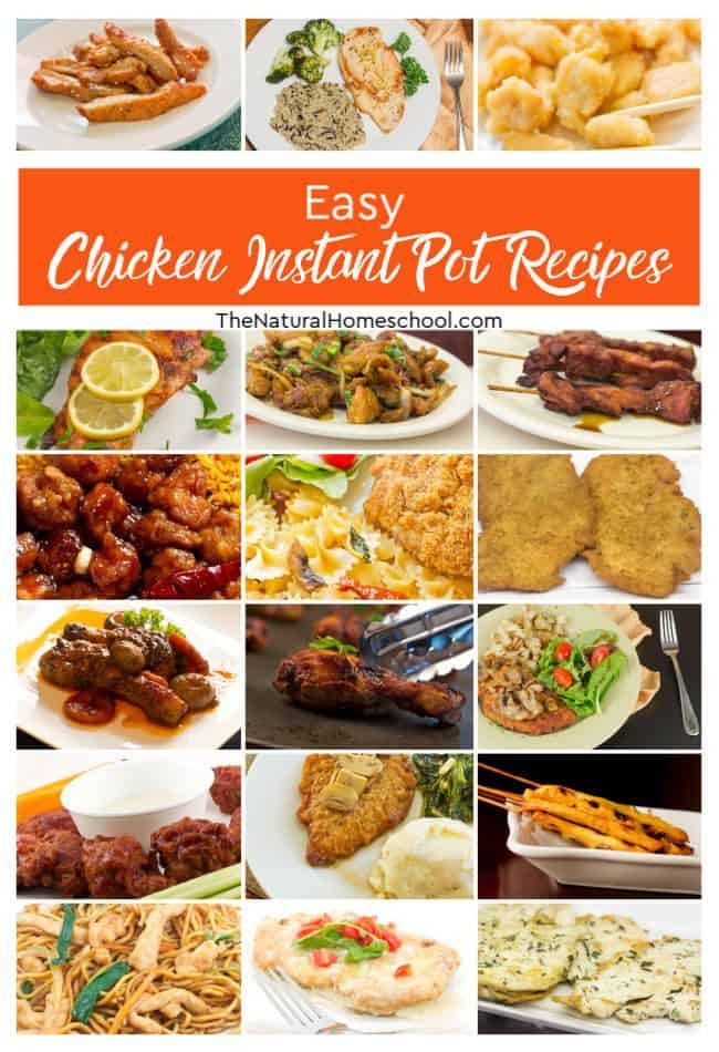 In this post, we have a fantastic list of easy Chicken Instant Pot Recipes that your family will LOVE! But really, you can make these any day because they are so easy and so good!