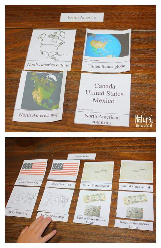 North America For Kids Printable Geography Part Cards The - Us map without state names printable