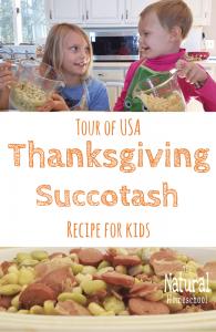Tour of the USA: Thanksgiving Succotash Recipe for Kids