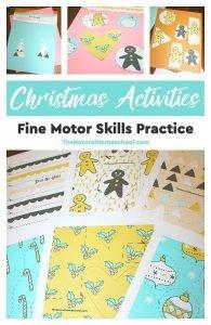 Christmas Activities & Fine Motor Skills Practice Printable