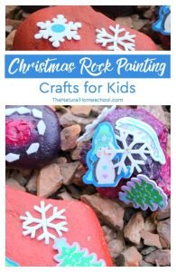 Christmas Rock Painting Crafts for Kids