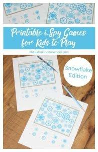 Printable i-Spy Games for Kids to Play ~ Snowflake Edition
