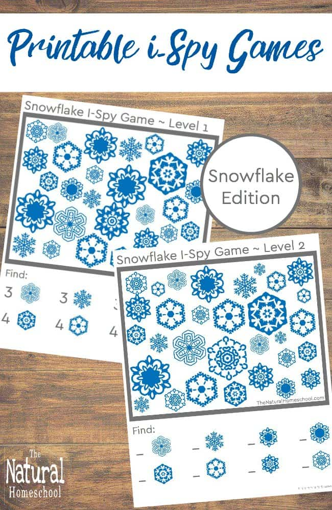 In this post, we celebrate Winter with these awesome printable i Spy games for kids to play this Winter! This is the Snowflake Edition, so stay tuned for more Winter themes coming soon!