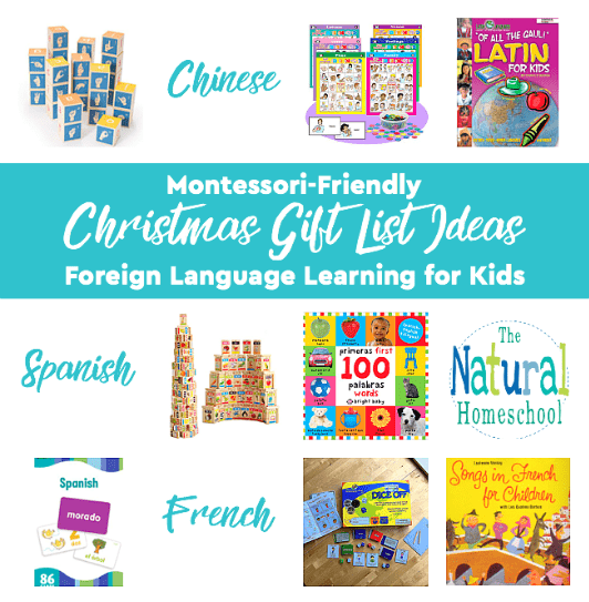 In this post, we share some Montessori-friendly Christmas Gift List Ideas. This time, we focus on foreign language learning for kids to play game while learning a foreign language.