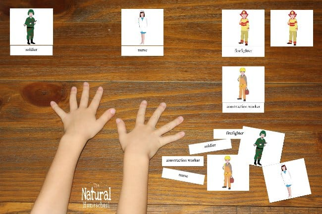 We love teaching about Community Helpers to kids! They feel safer and like the communities they live in are orderly and have people that can help them. This lesson shows a set of printable 3-part cards that children can use to be introduced to 16 names and images of community helpers.