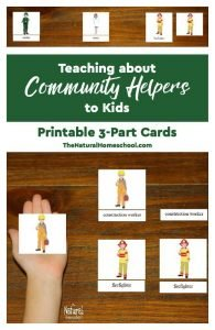 Teaching about Community Helpers to Kids – Printable 3-Part Cards