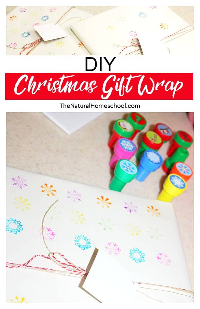 Diy Christmas Gift Wrap Ideas For Kids The Natural Homeschool