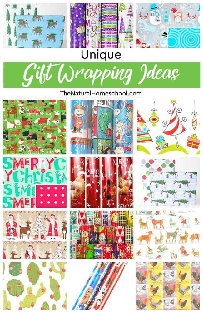 In this post, you will see some awesome and  unique wrapping paper ideas for the family. Some are handmade and kids would enjoy making them with you. No time for handmade? No worries! We also share with you some wrapping paper ideas that are popular and very different that you can just buy to make your life easier.