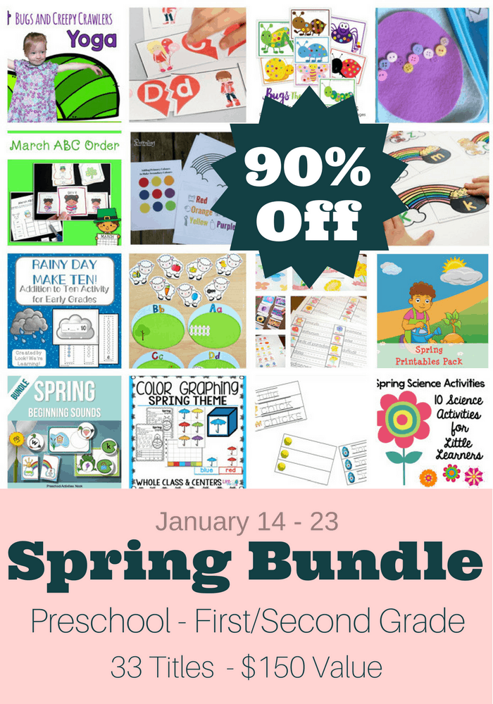 Create excitement this Spring with this bundle of learning activities and crafts. Valentine's Day, St. Patrick's Day, Easter and pretty flowers are only some of the fabulously fun themes included.