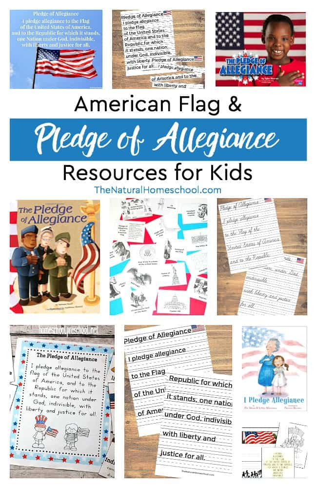 This post is all about the American flag pledge allegiance and resources to encourage patriotism and respect to our country.