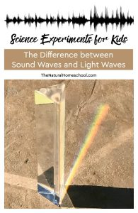 Easy Science Experiments for Kids ~ The Difference between Sound Waves and Light Waves