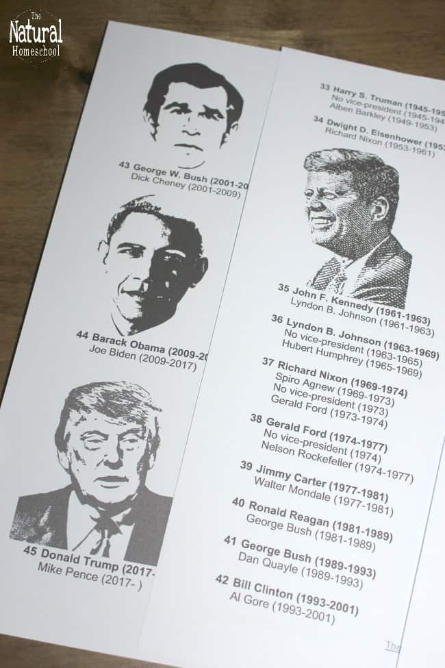 We have been memorizing the Presidents of the United States, from George Washington to the present, but it hasn't been easy! This printable list of the US Presidents in order is making it SO MUCH easier!