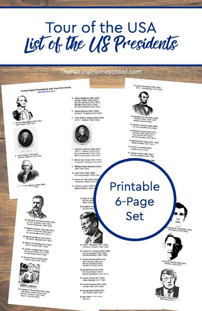 photo about Printable Pictures of Presidents named Excursion of the United states of america ~ Printable Checklist of the US Presidents within just