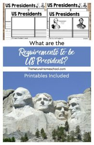 "What are the Requirements to be President? with ""If I were President"" Printables"