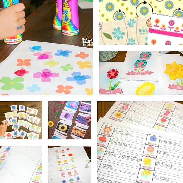 Awesome Printable Flower Activities for Kids BUNDLE 1