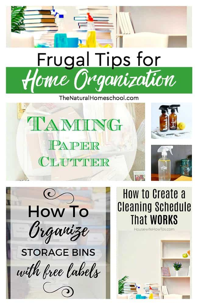 This is an awesome list of posts that bring you beautiful advice to make Frugal Tips for Home Organization a wonderful experience. Include your children in the reading. What do they think?