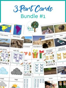 The Best Montessori 3-Part Cards ~ Bundle 1