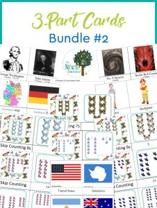 The Best Montessori 3-Part Cards ~ Bundle 2