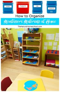 How to Organize Montessori Materials at Home (Printable Montessori Labels)