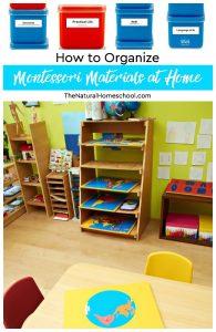 How to Organize Montessori Materials at Home (Printable Montessori Labels)