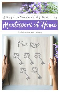 5 Keys to Successfully Teaching Montessori at Home