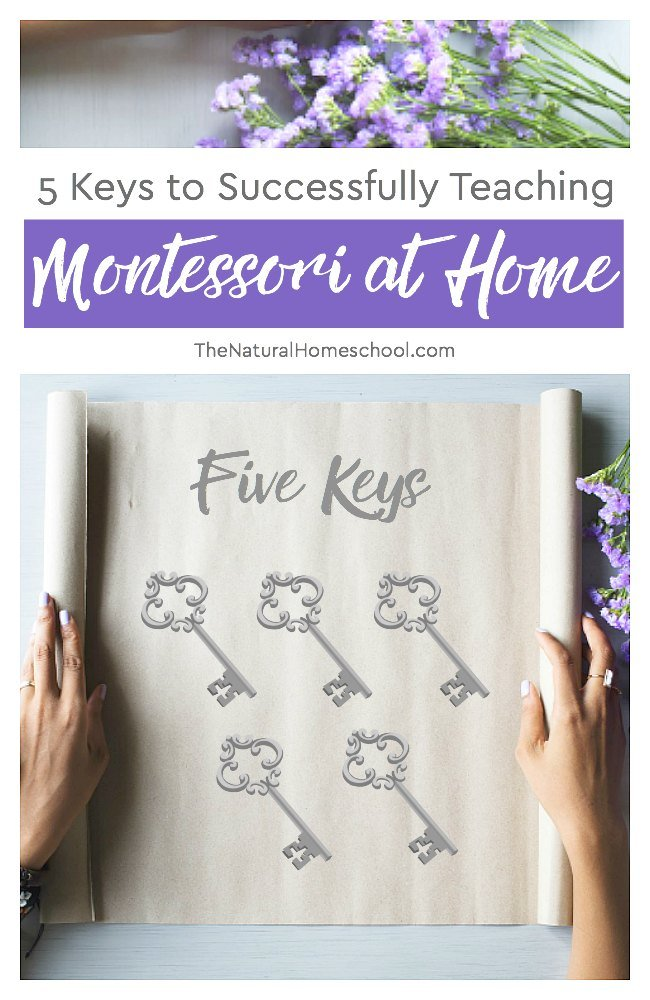 I know all too well how daunting the idea of teaching Montessori at home can be. But I have done it for 7 years and I am telling you that it is definitely and absolutely doable. You can do it! In this post, I will share with you 5 keys to teaching Montessori successfully at home.