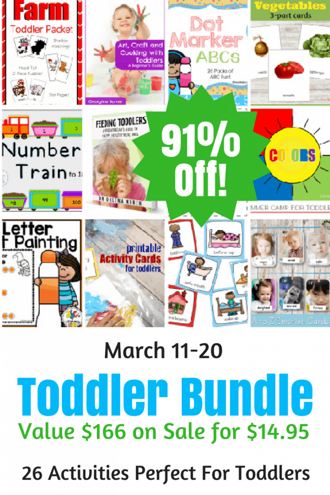Help teach and entertain your toddler with these fun, hands on activities and crafts. Colors, ABC's, Numbers and Animals are some of the amazingly engaging themes that are included. With 26 exciting packs/ebooks there is something for everyone.