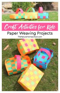 Craft Activities for Kids ~ Paper Weaving Projects