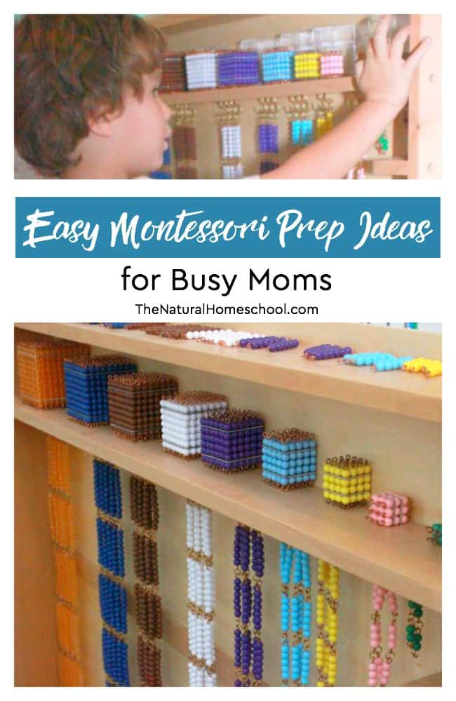 Teaching Montessori at home can be a lot of fun, but it can also be a lot of work. In this post, I will share with you easy prep ideas for busy moms.