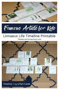 Famous Artists for Kids ~ Linnaeus Life Timeline Printable 3-Part Cards