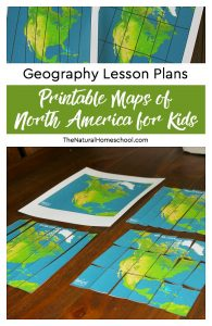 Geography Lesson Plans ~ Printable Maps of North America for Kids