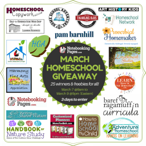 The March Homeschool Giveaway is here! Three days only!