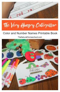 The Very Hungry Caterpillar Printable Book (Color and Number Names)