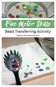Fine Motor Skills for Preschoolers – Bead Transferring Activity