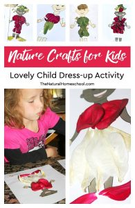 Nature Crafts for Kids ~ Lovely Child Dress-up Activity
