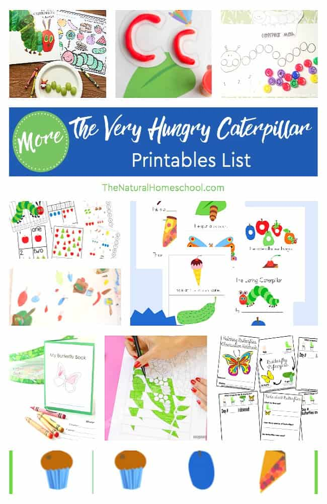 This is another awesome list with even more Eric Carle The Very Hungry Caterpillar printables! It is so amazing and fantastic! They're free and fun and simply the best. Come take a look at these caterpillar printables based on a childhood favorite book!